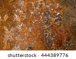 corroded  metal background.  | Shutterstock . vector #444389776