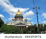 st isaac's cathedral. the... | Shutterstock . vector #444393976