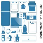 home appliances   set of 20  ... | Shutterstock .eps vector #444402682