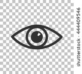 eye sign illustration. dark... | Shutterstock .eps vector #444409546