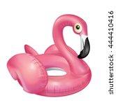flamingo float | Shutterstock . vector #444410416