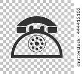 retro telephone sign. dark gray ...