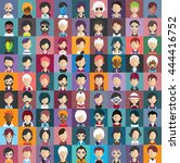 set of people icons in flat... | Shutterstock .eps vector #444416752
