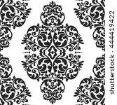 elegant damask wallpaper.... | Shutterstock .eps vector #444419422