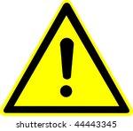 warning sign | Shutterstock . vector #44443345