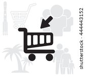 shopping cart  basket  icon | Shutterstock .eps vector #444443152