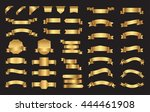 set of ribbons and labels... | Shutterstock .eps vector #444461908