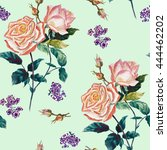 colorful vintage pattern with...   Shutterstock . vector #444462202