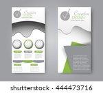 vector flyer and leaflet design.... | Shutterstock .eps vector #444473716