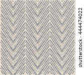 herringbone patterned rug... | Shutterstock .eps vector #444474022