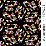 seamless colorful geometric... | Shutterstock .eps vector #444474178