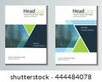 leaflet brochure flyer template ... | Shutterstock .eps vector #444484078