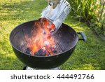 barbecue chimney starter | Shutterstock . vector #444492766