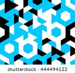 seamless pattern of geometric... | Shutterstock .eps vector #444494122