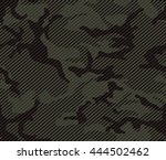 halftone line camouflage repeat ... | Shutterstock .eps vector #444502462