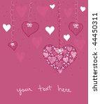 heart decoration | Shutterstock .eps vector #44450311