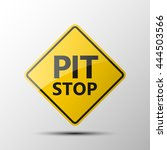 yellow diamond road sign with a ... | Shutterstock .eps vector #444503566