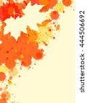 bright orange watercolor paint... | Shutterstock .eps vector #444506692
