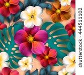 tropical flower  blossom... | Shutterstock .eps vector #444511102