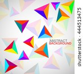 abstract geometric background... | Shutterstock .eps vector #444513475