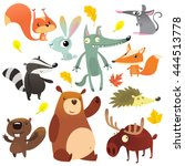 Cartoon Forest Animal...