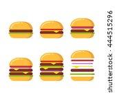 burger icon constructor set.... | Shutterstock .eps vector #444515296