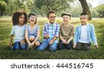 children friendship... | Shutterstock . vector #444516745