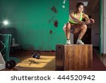 young adult crossfit girl... | Shutterstock . vector #444520942