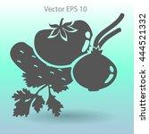 flat vegetables icon | Shutterstock .eps vector #444521332