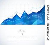 editable business diagram graph ... | Shutterstock .eps vector #444532606