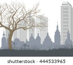 nature  the old and new city | Shutterstock .eps vector #444533965
