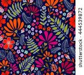 floral seamless pattern. warm... | Shutterstock . vector #444539872