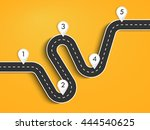 road way location infographic... | Shutterstock .eps vector #444540625