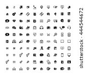 set of 100 universal icons.... | Shutterstock . vector #444544672