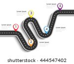 road way location infographic... | Shutterstock .eps vector #444547402