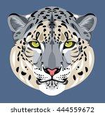 portrait of a snow leopard | Shutterstock . vector #444559672