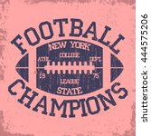 new york sport typography ... | Shutterstock .eps vector #444575206