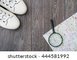 outfit of traveler or student.... | Shutterstock . vector #444581992