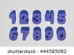 isolated plastic 3d alphabet in ... | Shutterstock . vector #444585082