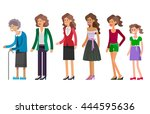 detailed character woman... | Shutterstock .eps vector #444595636