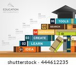 education infographic template... | Shutterstock .eps vector #444612235