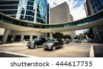 traffic and office buildings in ... | Shutterstock . vector #444617755