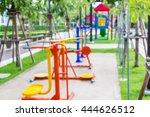 blur background exercise machine | Shutterstock . vector #444626512