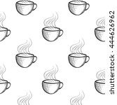seamless pattern with hand... | Shutterstock .eps vector #444626962