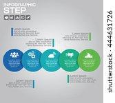 5 steps infographic design... | Shutterstock .eps vector #444631726