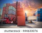 business logistic concept ...   Shutterstock . vector #444633076
