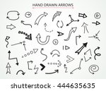 hand drawn arrows.set of... | Shutterstock .eps vector #444635635
