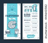 fast food menu design and fast... | Shutterstock .eps vector #444643582