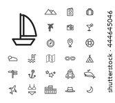 travel destination icon vectors ... | Shutterstock .eps vector #444645046