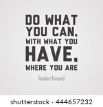 poster with motivational quote... | Shutterstock . vector #444657232